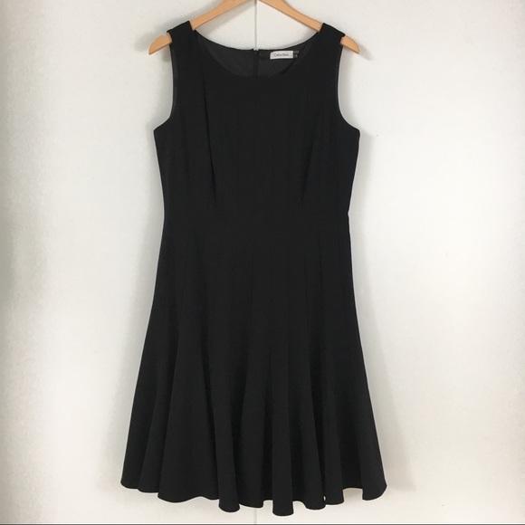 92a186ac3b5f7 Calvin Klein Dresses   Skirts - Calvin Klein black pleat flare sleeveless  dress 12